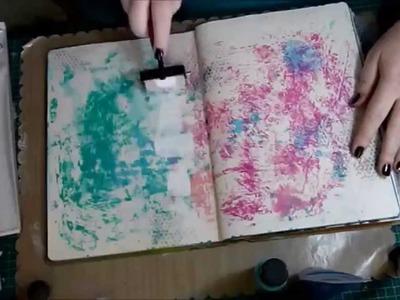 10 Basic Background Techniques for Art Journaling