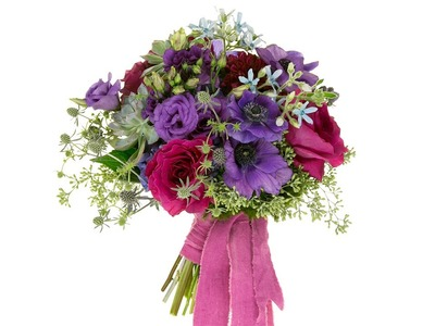 A Bridal Bouquet in Moody Blues