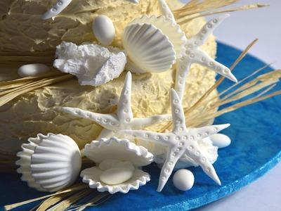 Beach Wedding Cake Tutorial