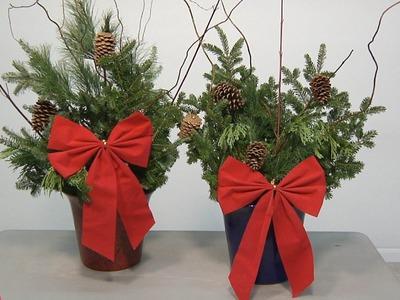 Christmas Porch Planters - How To Make - Menards