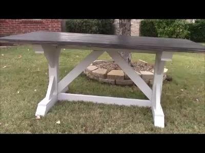 DIY Farmhouse Harvest Table Part 1