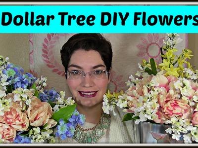 Dollar Tree Decor: How to Make a Spring Floral Arrangement!