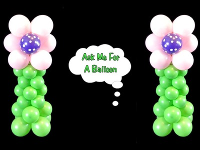 Flower Balloon Centerpiece - Balloon Decoration Tutorial