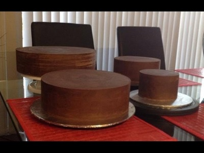 How to ganache your cake for fondant sharp edges