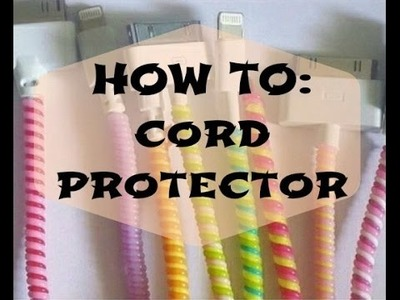 HOW-TO|kikayDIY|cord protector|