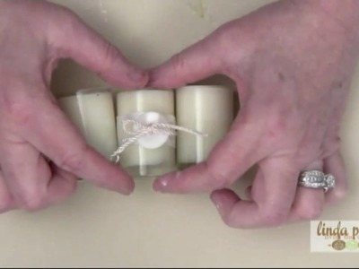 How to Make a Button Candle Wedding Favor by Linda Peterson