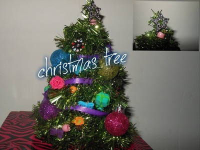 How to make doll Christmas tree and decorate Christmas tree, ornaments: 12 day of christmas