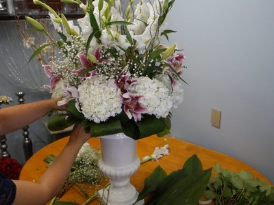 How To Make Tall Flower Arrangement In Urn