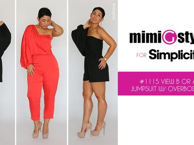 How to Sew the Mimi G Style for Simplicity, Pattern 1115. View A or B, Jumpsuit with Overbodice.