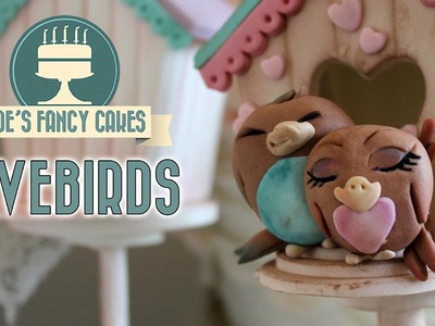 Lovebirds cake topper for Valentines day