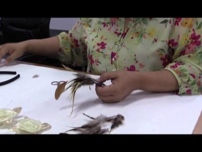 Madam Mandy Pan shows TNPS how to make a headband fascinator