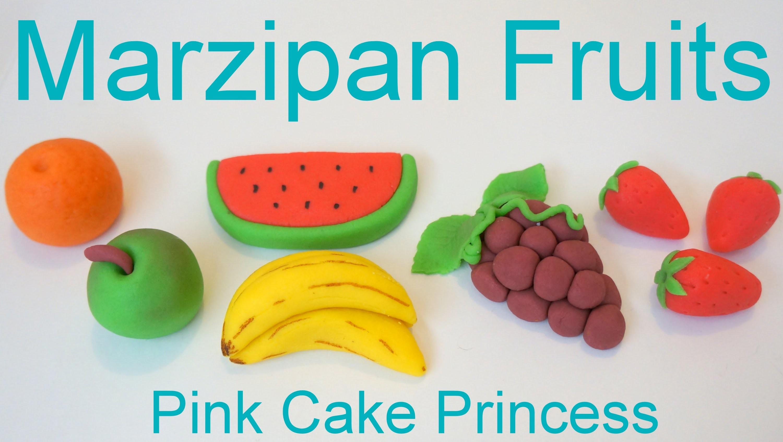 Marzipan Recipe - How to Make Marzipan Fruits by Pink Cake Princess