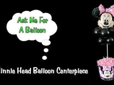 Minnie Mouse Balloon Centerpiece - Balloon Decoration Tutorial