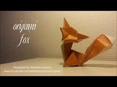 Origami Fox Tutorial (designed by Mathieu Gueros)