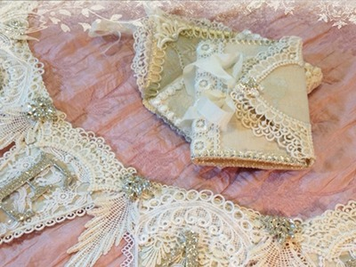 Shabby Chic Banner and Notebooks with Tresors de Luxe