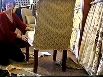 Slipcover a Parson Chair Tutorial Part 2 by Window Coverings by Rosa LLC Litchfield Park AZ