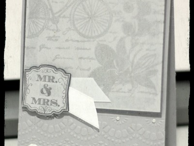 TCIF Stampin Up Label Love Wedding Card