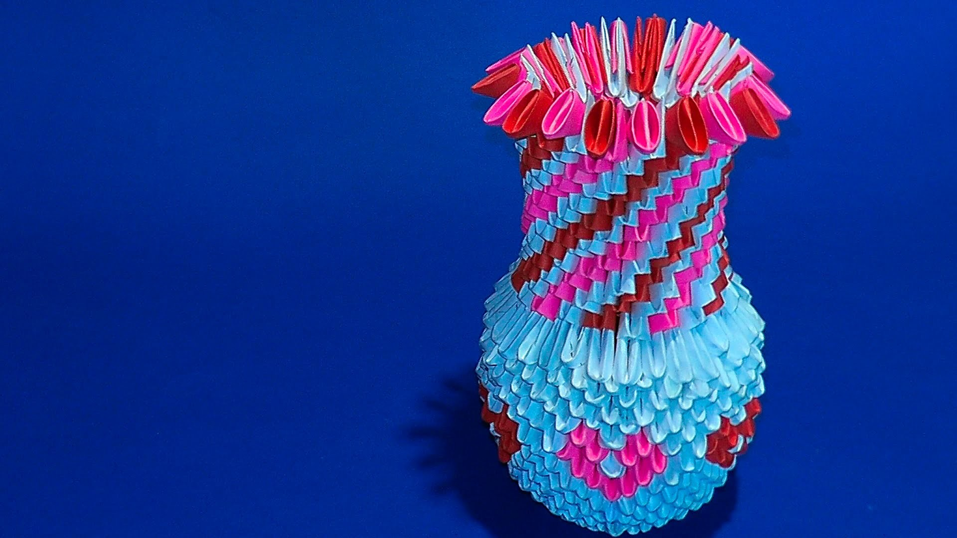 origami 3d vase tutorial