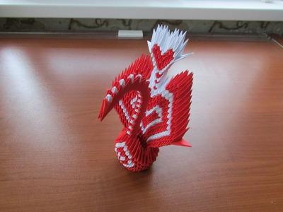 3D Origami Heart Peacock Tutorial