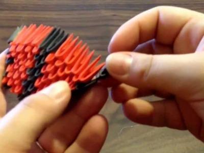 3d origami snake tutorial