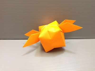 Daily Origami: 105 - Winged Ball or Golden Snitch