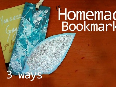 DIY: Homemade Bookmarks + Feather foam stamp