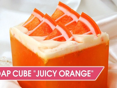 DIY: Orange soap cube | Make glycerin citrus soap