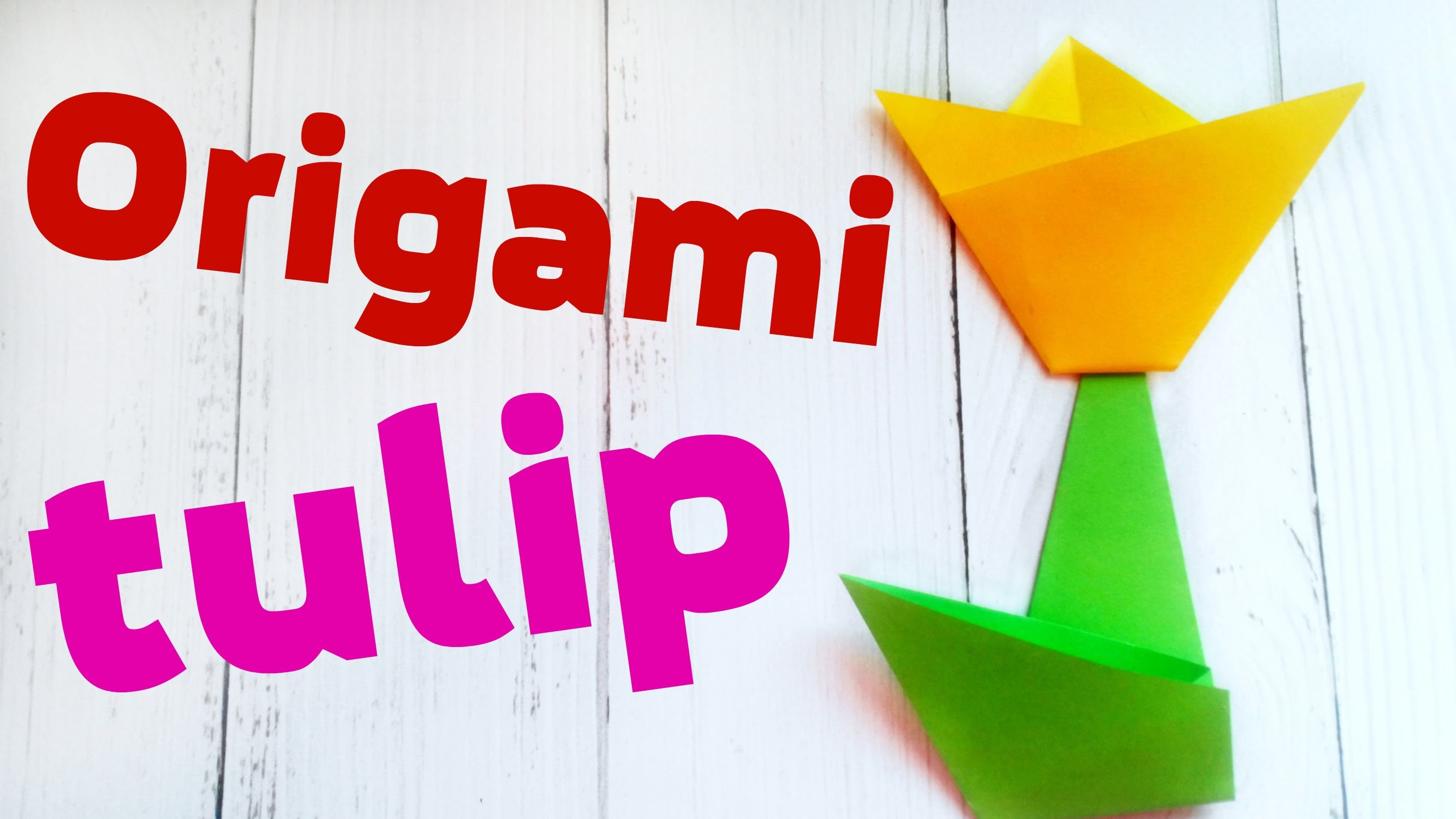 Easy 3d Origami Tulip Flower Scheme For Kids For Beginners Step By