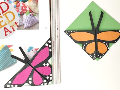 Easy Butterfly Bookmark Corners