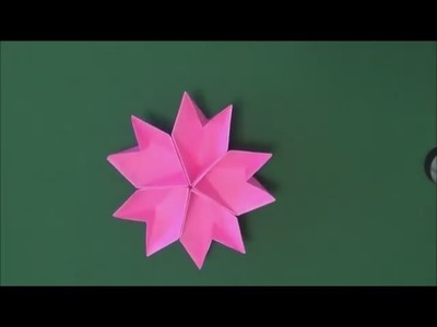 Easy Origami for Beginners - Easy Origami flower Sakura