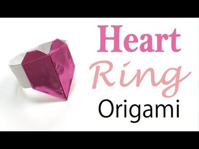 Heart Ring Napkin Holder Origami Paper - Origami Kawaii