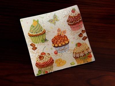 How to customize a glass tray using napkins~Decorar una bandeja de vidrio con servilletas