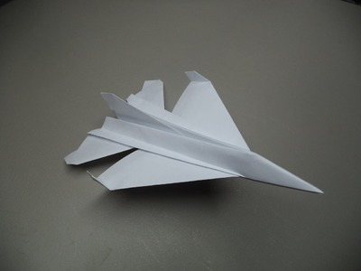 How to Fold an Origami F-16 Paper Plane