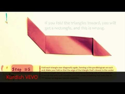 How to Fold paper into Secret note square HD