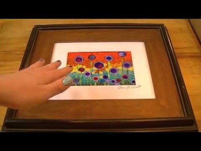 How To Frame A Quilled Mosaic