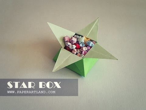 How to Make a A cool Origami Box - Star Box
