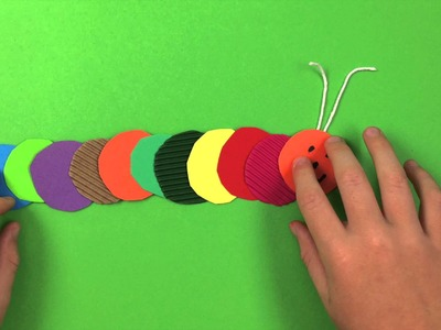 How to make a Caterpillar - simple preschool arts and crafts for kids