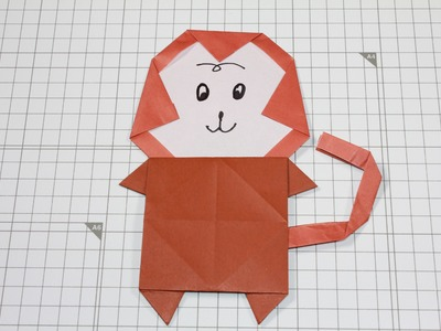 How to  Origami Animal : Little Monkey