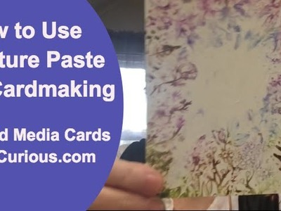 How to Use Texture Paste on Cards