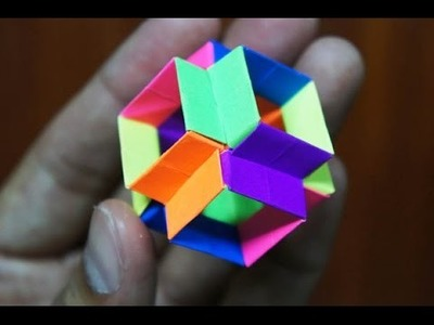 Modular Origami - How to make Modular Hyper Cube Origami (Version 1.0)