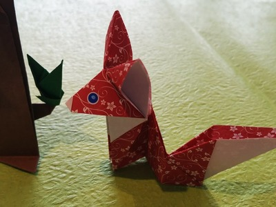 Observant little fox | Origami tutorial for beginners
