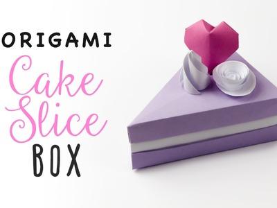 Origami Cake Slice Box Tutorial ♥︎ Triangular Box ♥︎