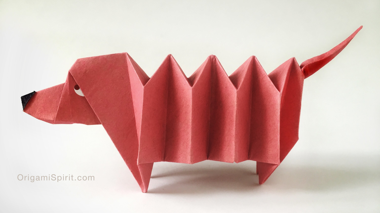 Origami Dachshund Dog : : Perro Salchicha