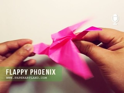 ORIGAMI for KIDS - How to Make an origami bird that can flap its wings | Flappy Phoenix