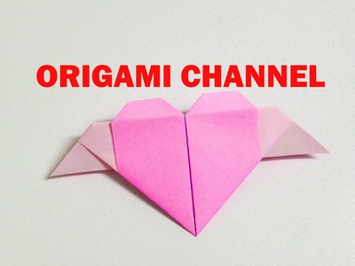 ORIGAMI HEART WITH WINGS EASY ORIGAMI HEART WINGLED