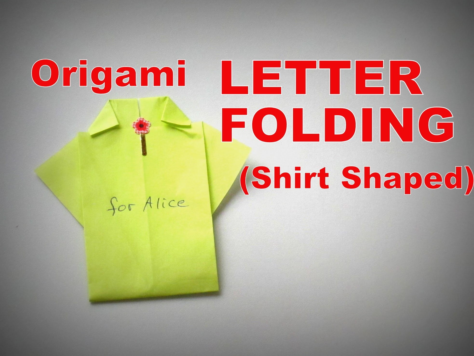 Origami - How to fold a LETTER (Shirt Shape)