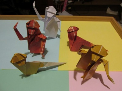ORIGAMI - MACACO (FÁCIL) - APE -  MONKEY - (EASY METHOD - STEP BY STEP)