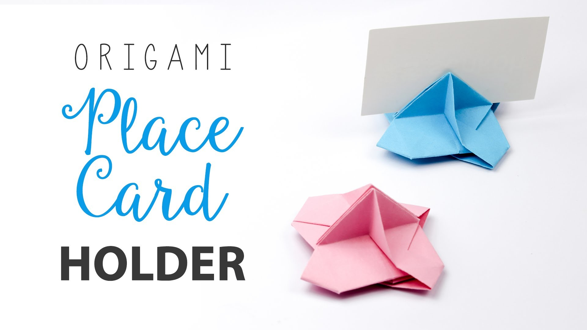 Origami Place Card Holder Tutorial ♥︎ Card Stand DIY ♥︎
