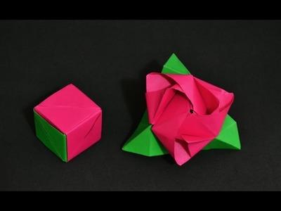 Origami: Rose Cube Transformer ( Valerie Vann )