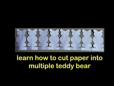Paper cutting art - paper crafts - teddy bear cutting